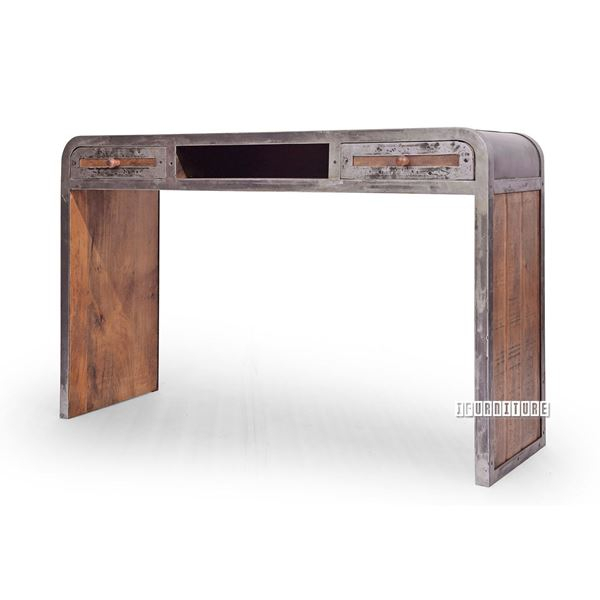 Saigon Solid Mango Wood 120 Console Table Throughout 2017 Carelton 36'' Mango Solid Wood Trestle Dining Tables (View 14 of 15)