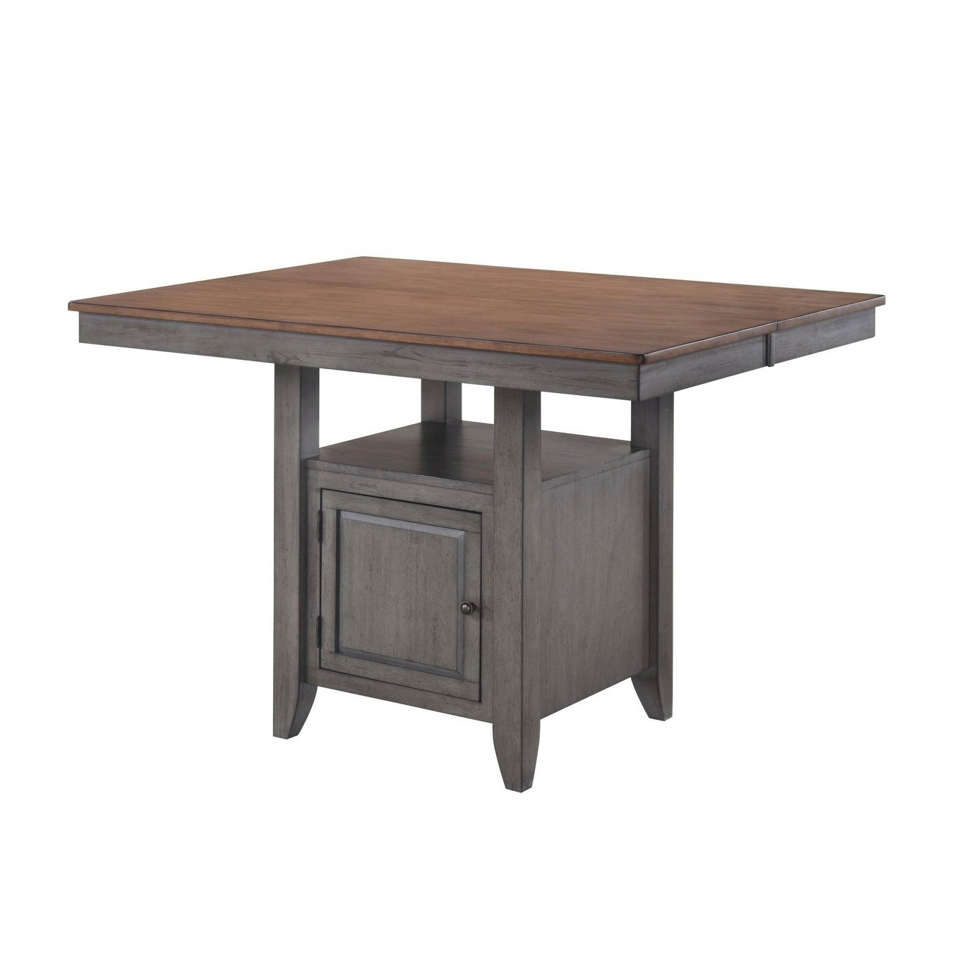 Saint Pete Storm Grey And Maple Rectangular Gathering Pertaining To Most Recently Released Drake Maple Solid Wood Dining Tables (View 2 of 15)