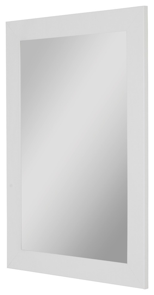 Sanibel Gloss White Mirror – Contemporary – Bathroom Throughout Recent Sanibel (View 11 of 15)
