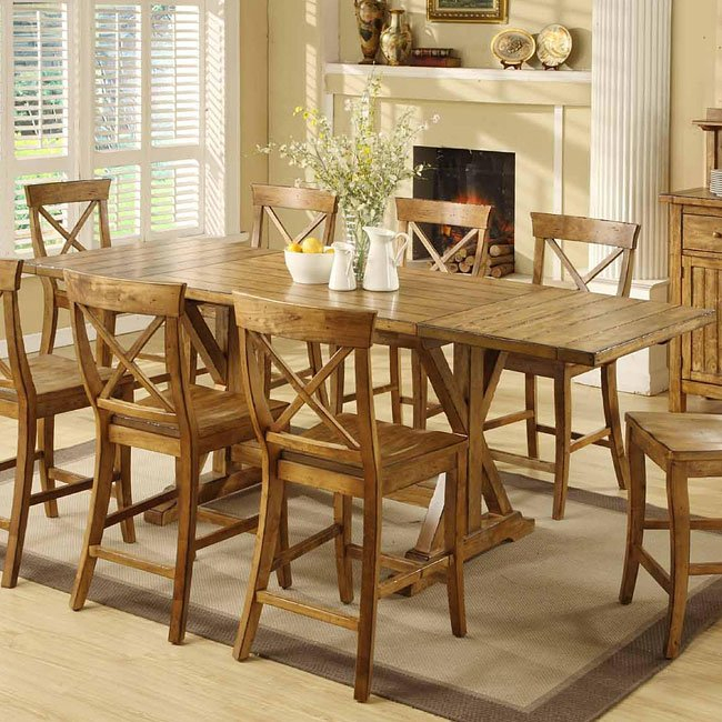 Santa Fe Dining Table Regarding Most Up To Date Aulbrey Butterfly Leaf Teak Solid Wood Trestle Dining Tables (View 14 of 15)