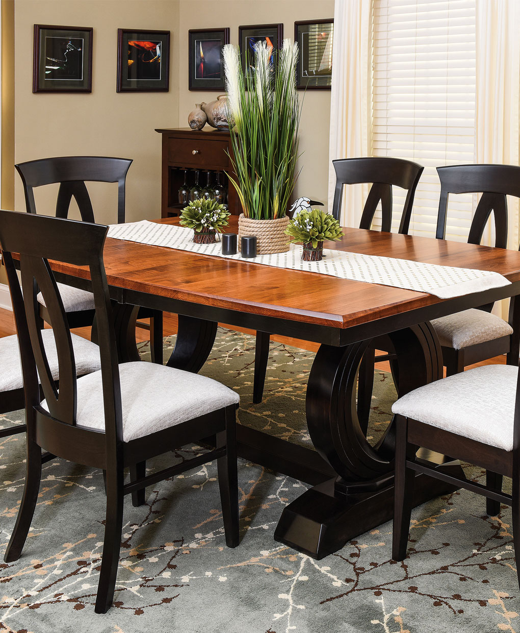 Saratoga Trestle Table – Amish Direct Furniture Inside Most Current Nerida Trestle Dining Tables (Photo 15 of 15)