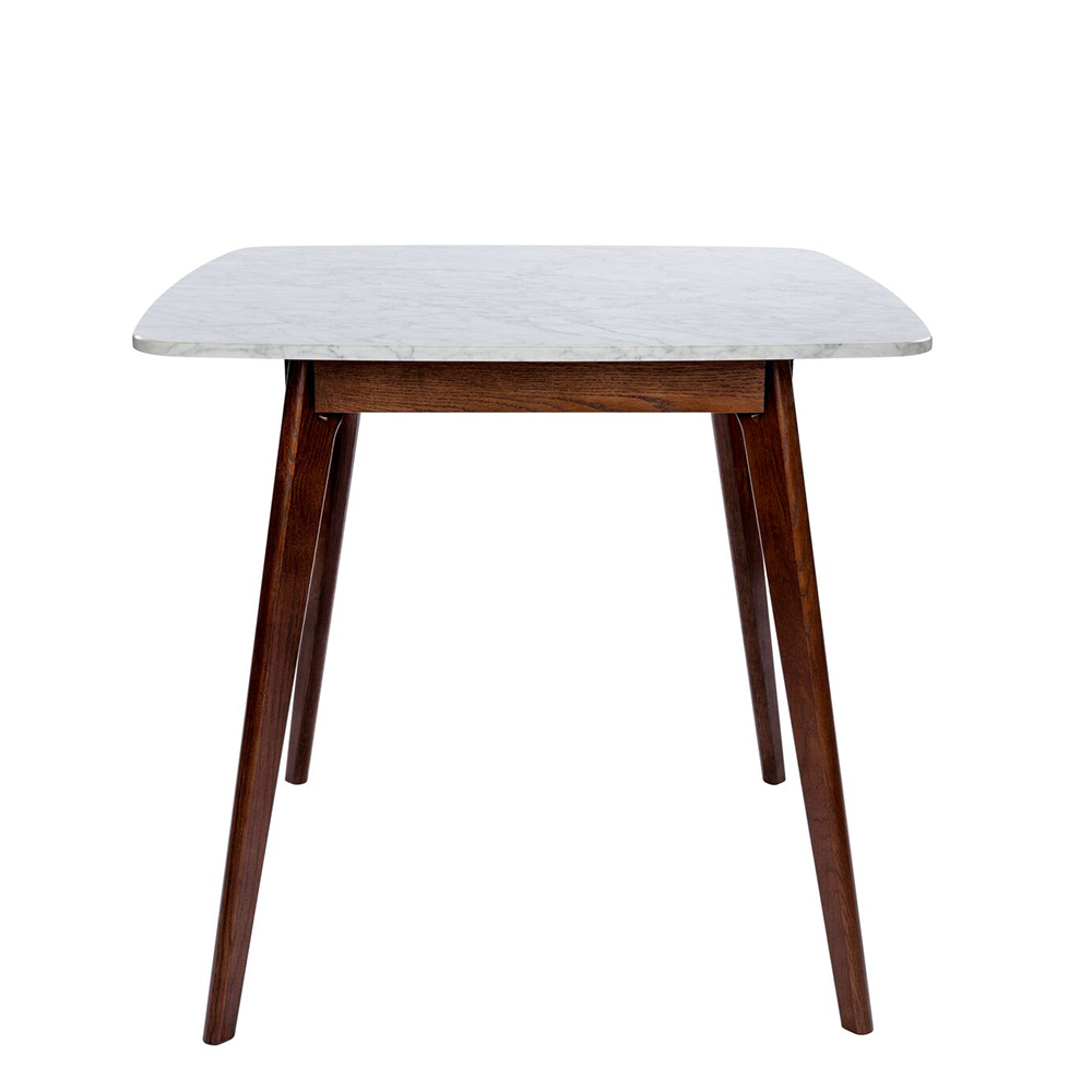 """Senna 31"""" Square White Italian Carrara Marble Dining Table For Most Up To Date Cainsville 32'' Dining Tables (View 9 of 15)"""