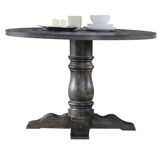 """Shaftesbury Traditional 47"""" Round Pedestal Dining Table In Within Best And Newest Wilkesville 47'' Pedestal Dining Tables (View 5 of 15)"""