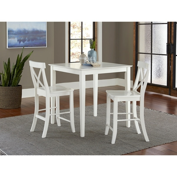 """Shop 36"""" Square Counter Height Dining Table With 2 X Back With Newest Hitchin 36'' Dining Tables (View 15 of 15)"""