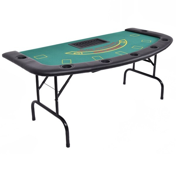 """Shop 7 Players Texas Holdem Foldable Poker Table – On Sale For Current 48"""" 6 – Player Poker Tables (View 12 of 15)"""