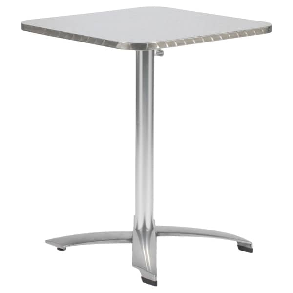 Shop Arden 24 Inch Table – Stainless/Aluminum – Free With Recent Adsila 24'' Dining Tables (Photo 7 of 15)