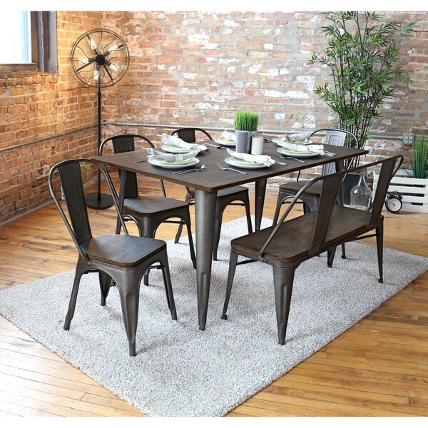 Shop Carbon Loft Boyer Industrial Farmhouse 59 Inch Dining Pertaining To Newest Balfour 39'' Dining Tables (View 9 of 15)
