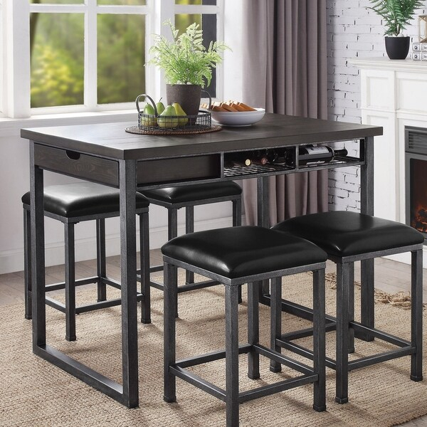 Shop Carbon Loft Mezzo Counter Height Dining Table With Pertaining To Most Recent Dankrad Bar Height Dining Tables (View 9 of 15)