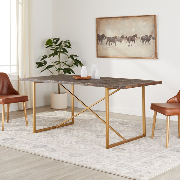 Shop Carbon Loft Monterey 71 Inch Dining Table – Free With Regard To Current Babbie Butterfly Leaf Pine Solid Wood Trestle Dining Tables (View 4 of 15)