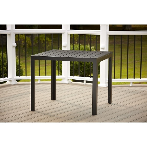 Shop Cosco Outdoor Resin Slat, Square Dining Table, 35.4 Throughout Most Up To Date Clennell  (View 9 of 15)