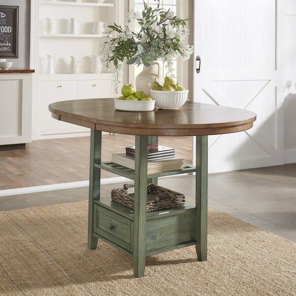 Shop Eleanor Solid Wood Oval Extendable Counter Height With Recent Counter Height Extendable Dining Tables (View 14 of 15)