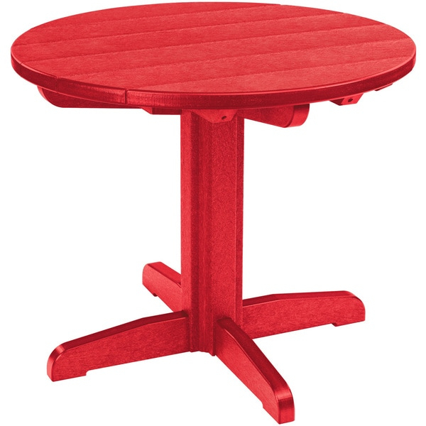 Shop Generations Red 32 Inch Round Dining Pedestal Table Regarding Most Recently Released Hemmer 32'' Pedestal Dining Tables (View 4 of 15)