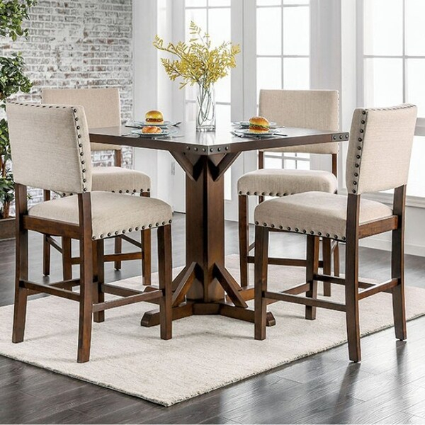 Shop Glenbrook Brown Cherry Counter Height Dining Table In Newest Andrenique Bar Height Dining Tables (View 4 of 15)