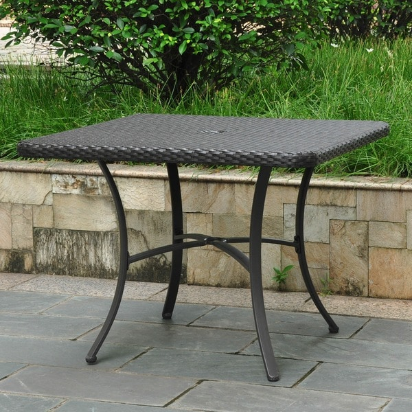Shop International Caravan Barcelona Resin Wicker/Aluminum Intended For Current Balfour 39'' Dining Tables (View 11 of 15)