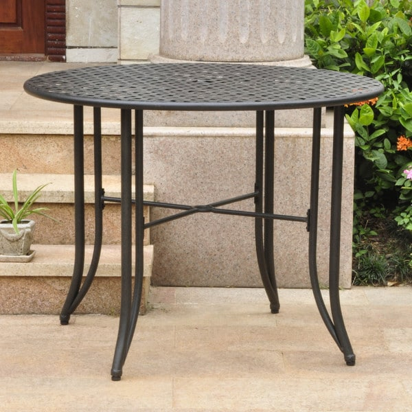 Shop International Caravan Mandalay Iron 39 Inch Round Pertaining To Best And Newest Balfour 39'' Dining Tables (View 8 of 15)