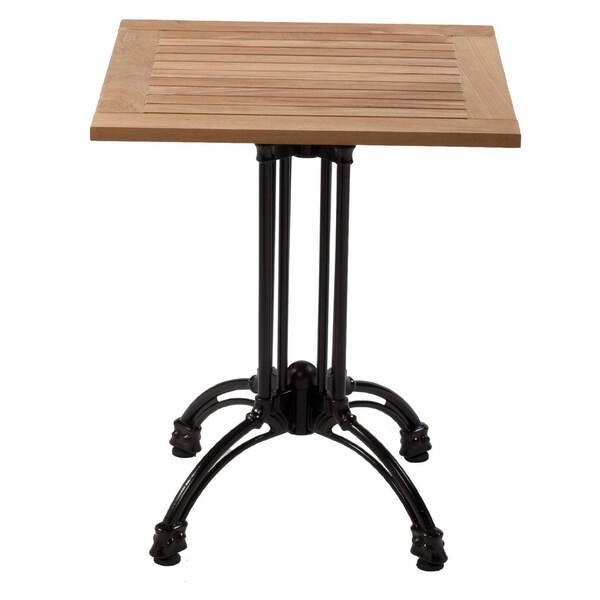 Shop Kfi 32In Square Pedestal Table Teak Table Top Cast Intended For Most Current Hemmer 32'' Pedestal Dining Tables (View 14 of 15)