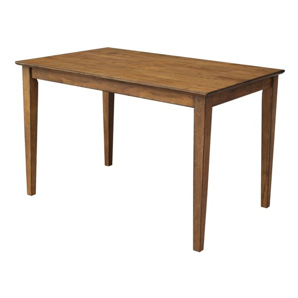Shop Maison Rouge Binyon Pecan Solid Wood Top 30 Inch X 48 Throughout 2017 Elderton 30'' Solid Wood Dining Tables (View 13 of 15)