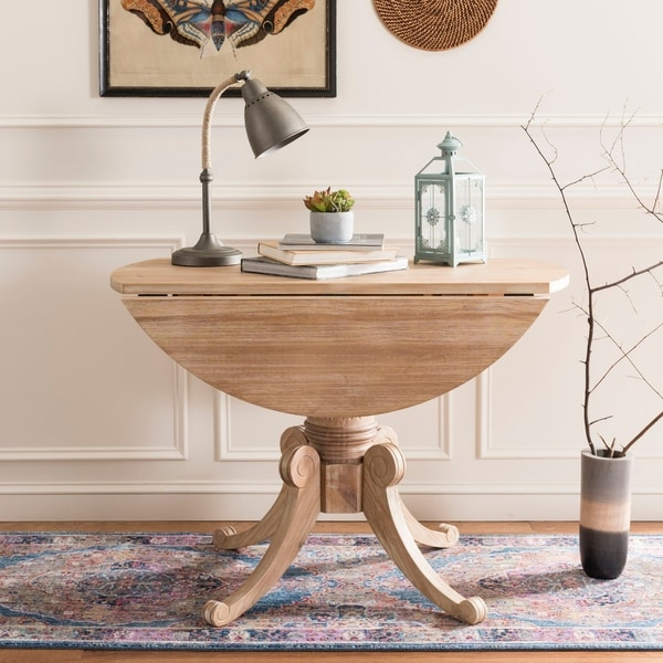 Shop Safavieh Forest Rustic Natural Drop Leaf Dining Table Regarding Recent Neves 43'' Dining Tables (View 9 of 15)