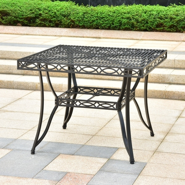 Shop Segovia 39 Inch Iron Patio Dining Table – On Sale Inside Newest Gorla 39'' Dining Tables (View 14 of 15)