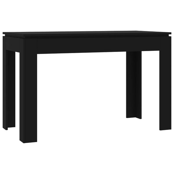 """Shop Vidaxl Dining Table Black 47.2""""X23.6""""X29.9"""" Chipboard Intended For Most Recent Grimaldo  (View 11 of 15)"""