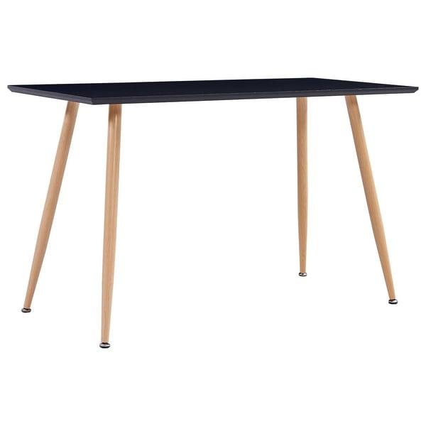 "Shop Vidaxl Dining Table Black And Oak 47.2""X23.6""X29.1 Regarding Most Recent Grimaldo  (View 4 of 15)"