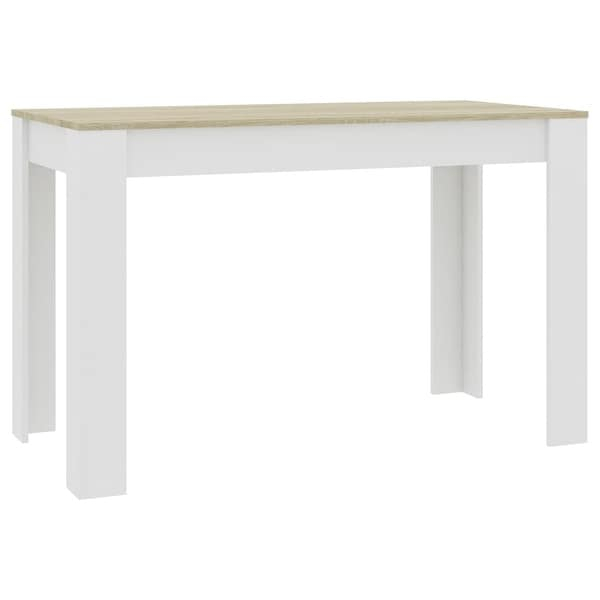 """Shop Vidaxl Dining Table White And Sonoma Oak 47.2""""X23.6 In Most Recently Released Grimaldo  (View 13 of 15)"""