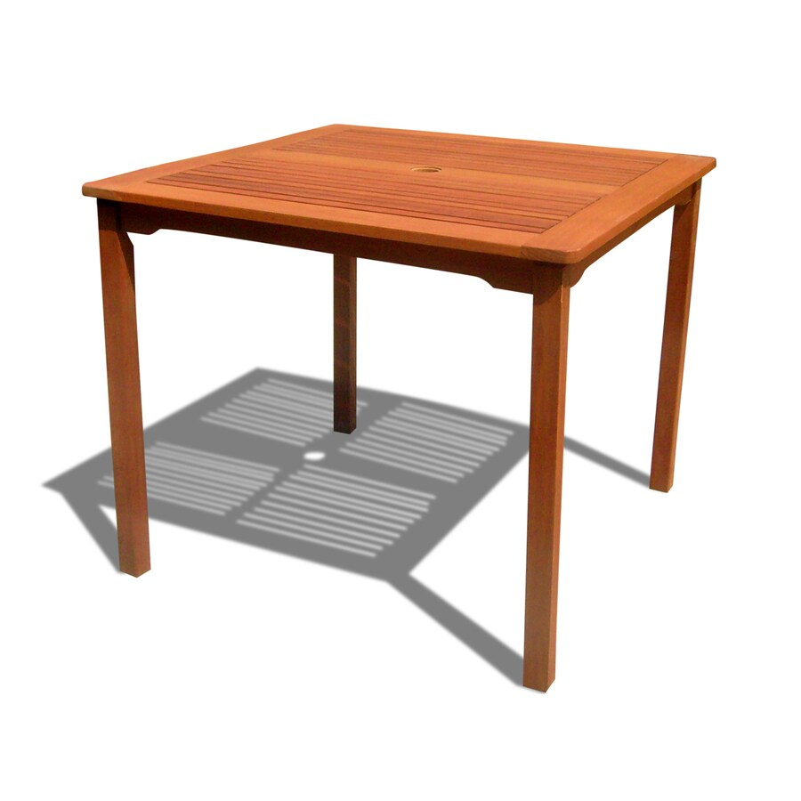 Shop Vifah 35.4 In W X 35.4 In L Square Eucalyptus Dining Inside Recent Clennell  (View 6 of 15)