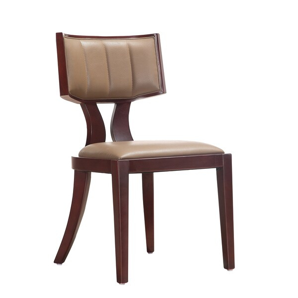 Shop Zeus Leather Dining Chairs (Set Of 2) – Overstock In Latest Zeus  (View 9 of 15)