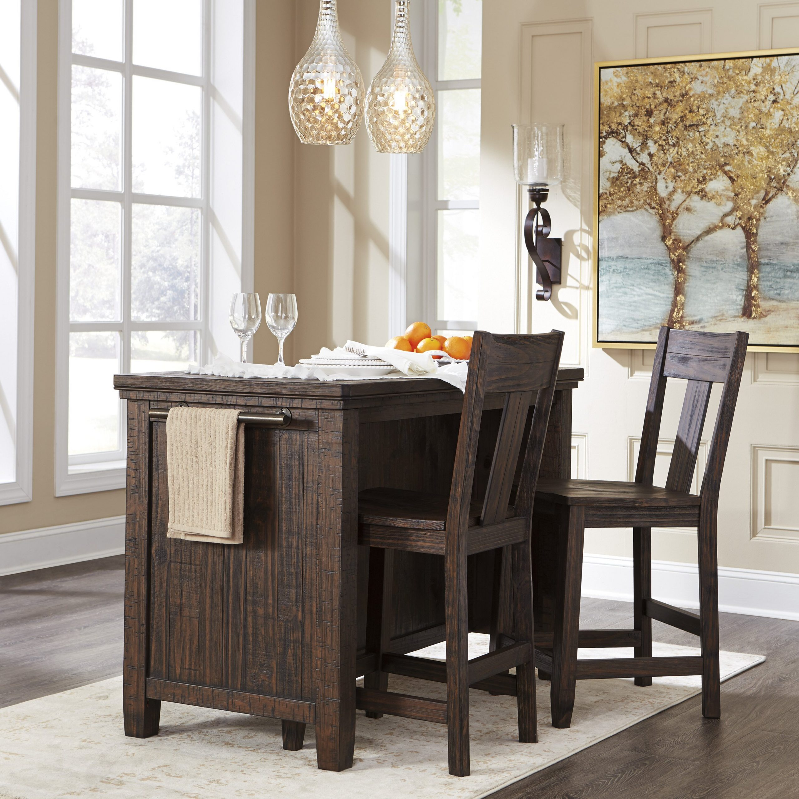 Signature Designashley Trudell Counter Height Dining In Best And Newest Pennside Counter Height Dining Tables (View 9 of 15)