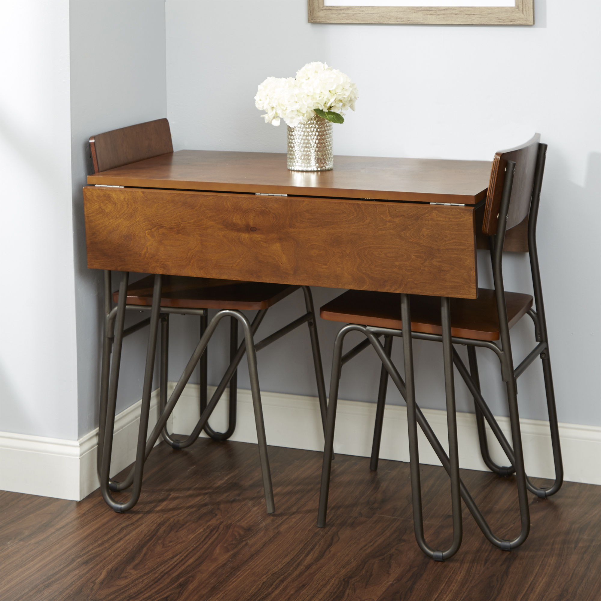 Silverwood Henry Wood And Metal Drop Leaf Table With Within 2017 Adams Drop Leaf Trestle Dining Tables (View 4 of 15)