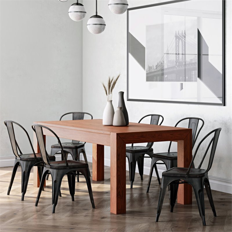 Simpli Home Drummond Solid Mango Wood Dining Table In With Regard To Most Recently Released Alfie Mango Solid Wood Dining Tables (View 14 of 15)