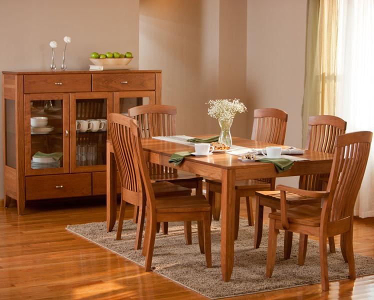 Simply Amish Justine 7 Piece Dining And Chair Set Regarding Most Recent Justine (View 2 of 15)