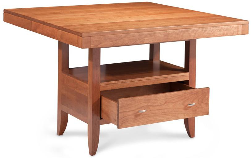 Simply Amish Justine Island Table W/ Butterfly Extension With Regard To Newest Justine (View 11 of 15)