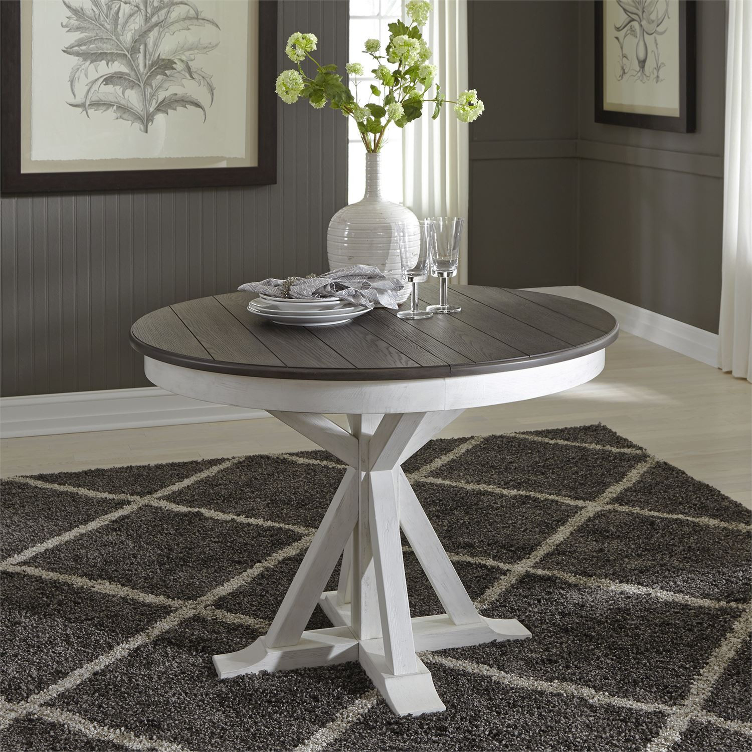Single Pedestal Table – Allyson Park Dining – Dining Pertaining To Most Current Genao 35'' Dining Tables (View 6 of 15)