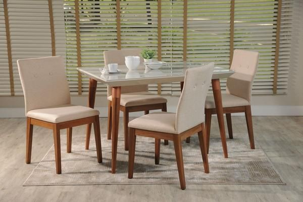 Size:length: 47.24 Height: 35.43Depth: 35.43 | Dining Set Pertaining To Newest Gunesh  (View 11 of 15)