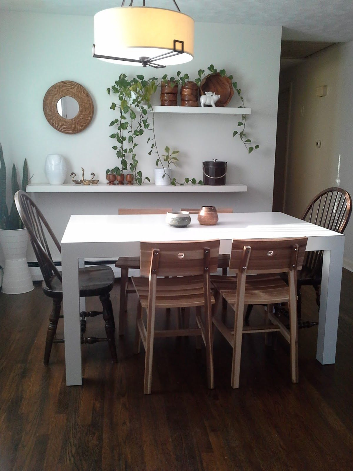 Skogsta Chairs And Parsons Dining Room Table | Dining Pertaining To 2017 Kayleigh (View 15 of 15)