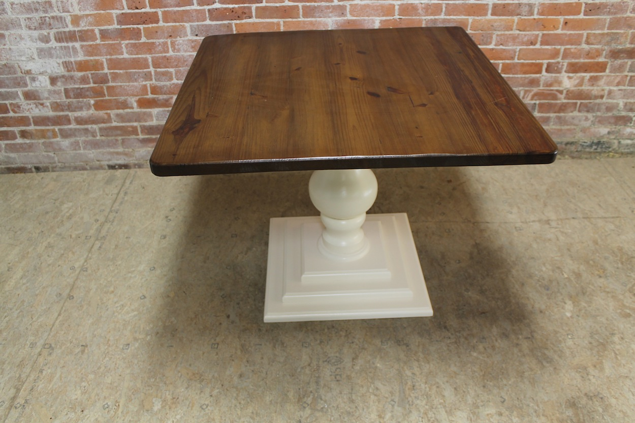 Small Square Pedestal Table – Ecustomfinishes With Most Popular Nashville 40'' Pedestal Dining Tables (View 7 of 15)
