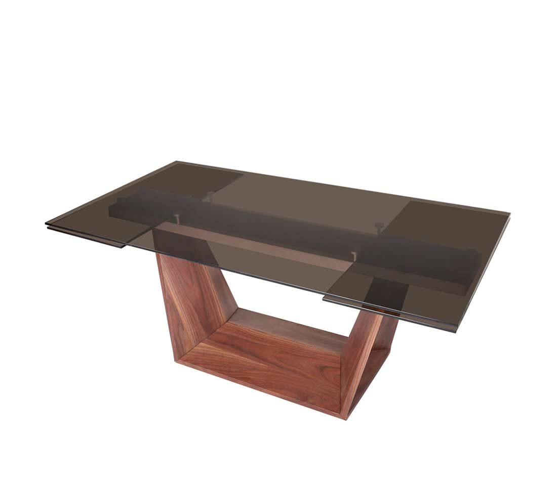 Smoked Glass Dining Table Vg 683 | Modern Dining With Current Drew (View 8 of 15)