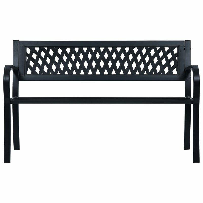 Sol 72 Outdoor Rishaan Steel Bench & Reviews   Wayfair.co (View 15 of 15)