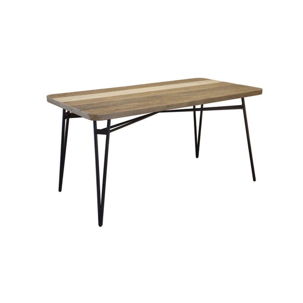 """Solid Acacia Wood Dining Table 59"""" 