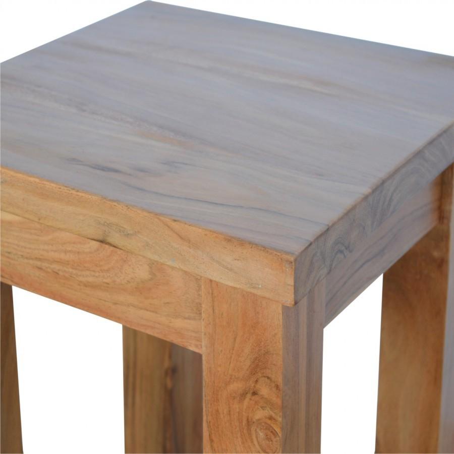 Solid Oak/Caramel Finished Mango Wood Small Sturdy Boston Regarding Recent Carelton 36'' Mango Solid Wood Trestle Dining Tables (View 15 of 15)
