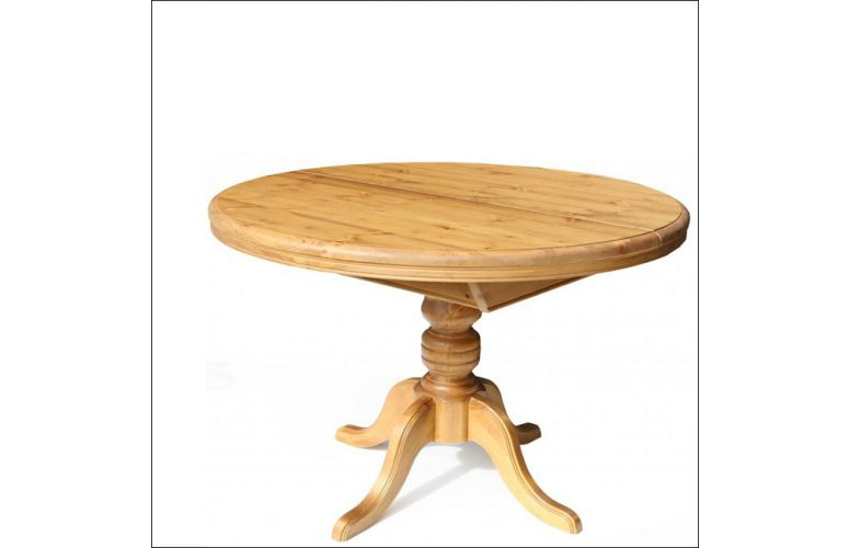 Solid Pine 42 Inch Round Extending Table   Perfect For The Pertaining To 2018 Finkelstein Pine Solid Wood Pedestal Dining Tables (View 9 of 15)
