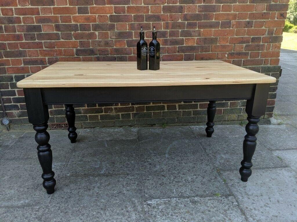 Solid Pine 5Ft Farmhouse Dining Table (View 14 of 15)