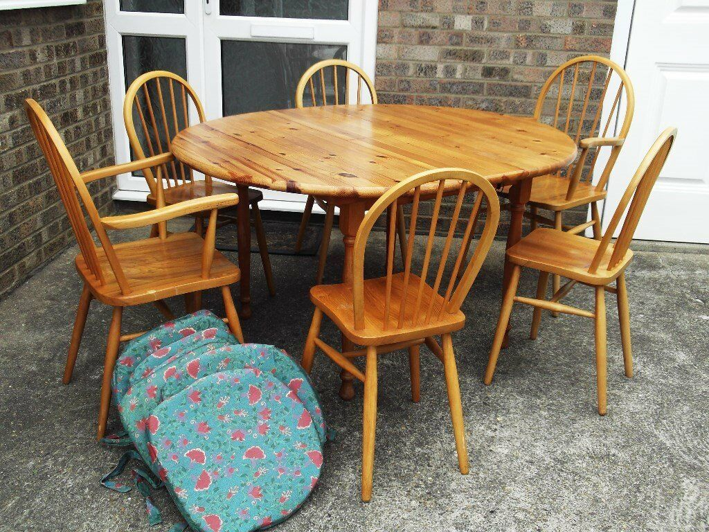 Solid Pine Dining Room Table And 6 Chairs | In North Intended For Best And Newest Febe Pine Solid Wood Dining Tables (View 7 of 15)