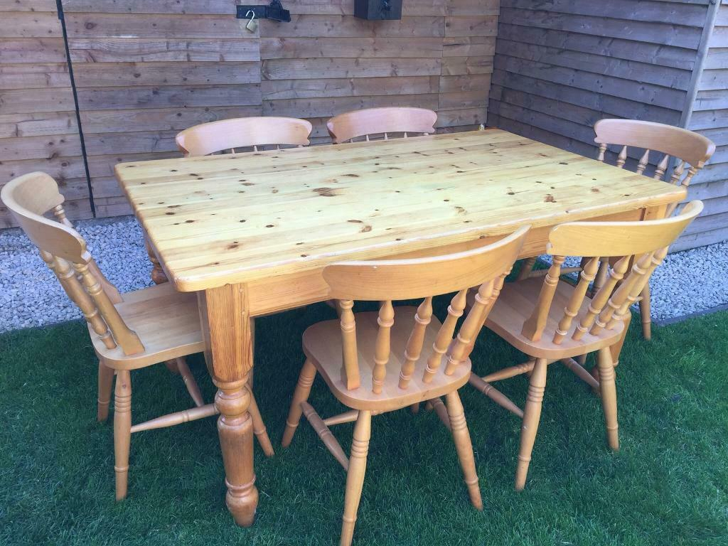 Solid Pine Farmhouse Dining Table 5X3Ft, Great Quality And Within Latest Febe Pine Solid Wood Dining Tables (View 11 of 15)