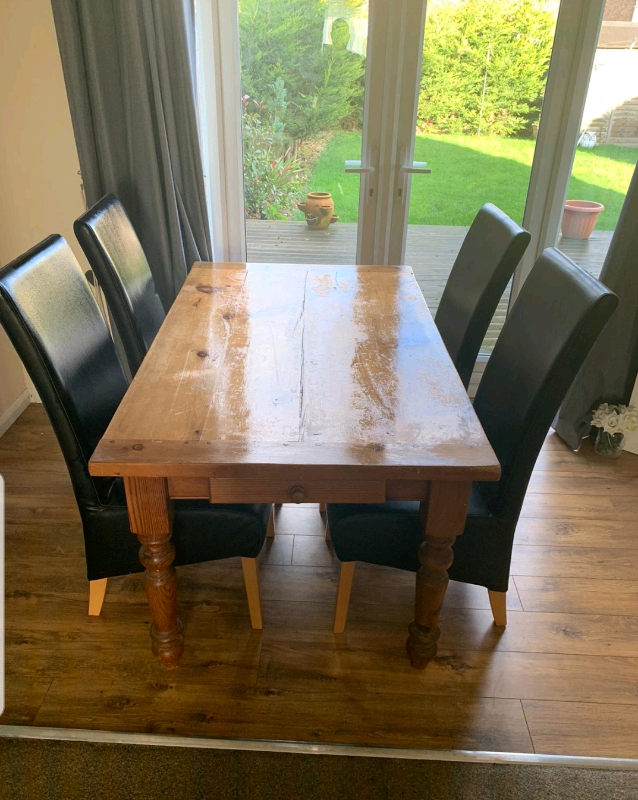Solid Wood Table To Seat 6 Comfortably | In Milton Keynes Pertaining To Most Up To Date Milton Drop Leaf Dining Tables (View 10 of 15)