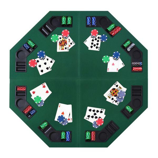 "Soozier 48""/120Cm Octagon Blackjack Poker Game Table Top Regarding 2018 48"" 6 – Player Poker Tables (View 11 of 15)"