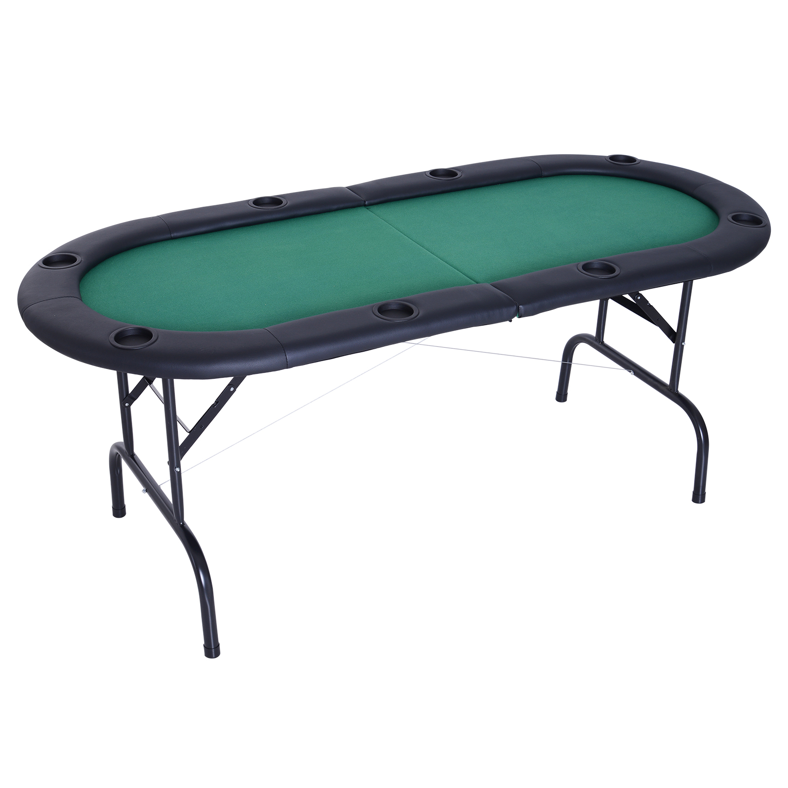 """Soozier 72"""" 8 Player Octagon Poker Table Set With 8 Steel In Most Popular 48"""" 6 – Player Poker Tables (View 13 of 15)"""