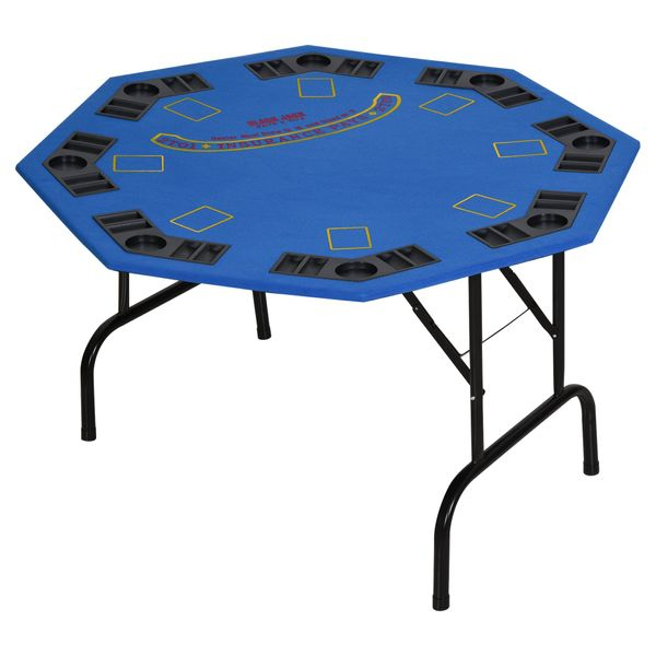 """Soozier Homcom 47"""" 8 Player Folding Octagon Poker Table Pertaining To Most Popular 48"""" 6 – Player Poker Tables (View 15 of 15)"""
