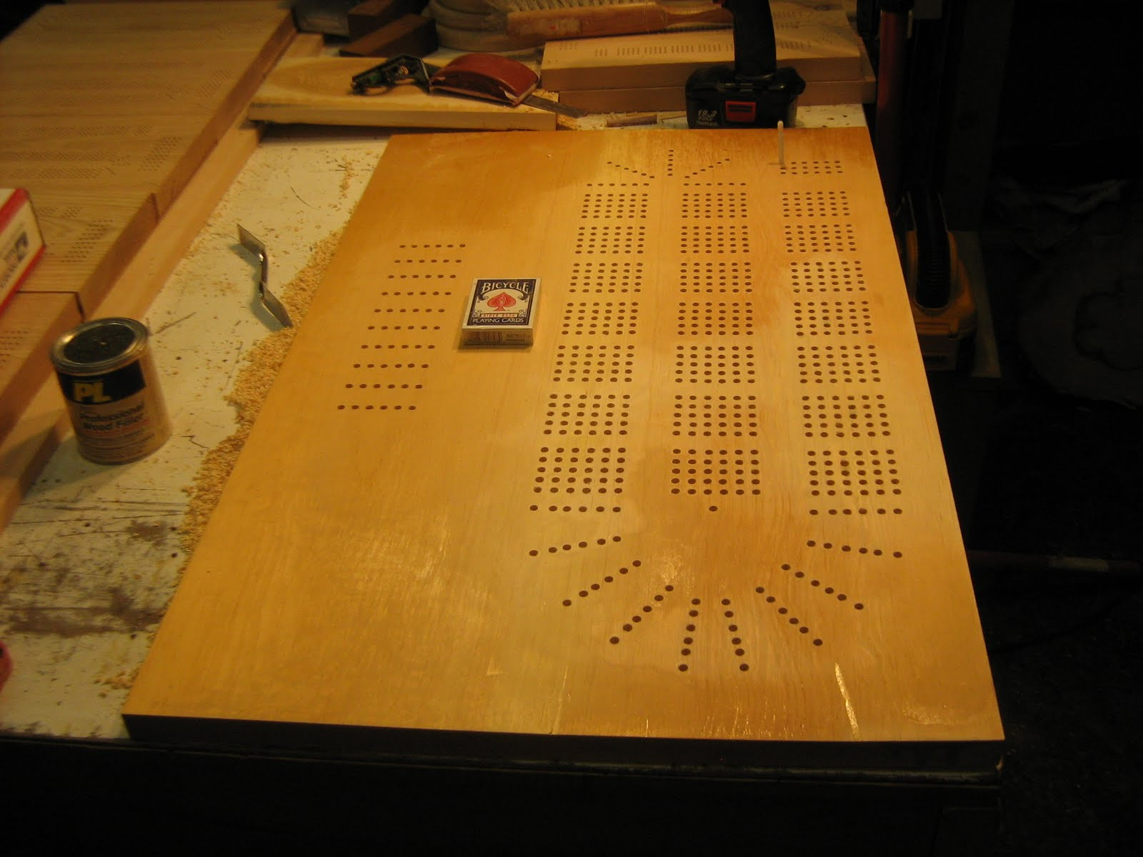 Splinters Woodworks: Custom Large 6 Person Cribbage Board Pertaining To Recent 3 Games Convertible 80 Inches Multi Game Tables (View 14 of 15)